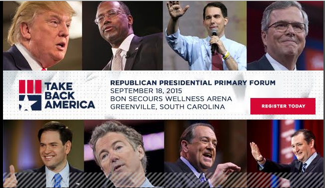 URGENT ACTION – Opportunity for attending Presidential Forum in SC
